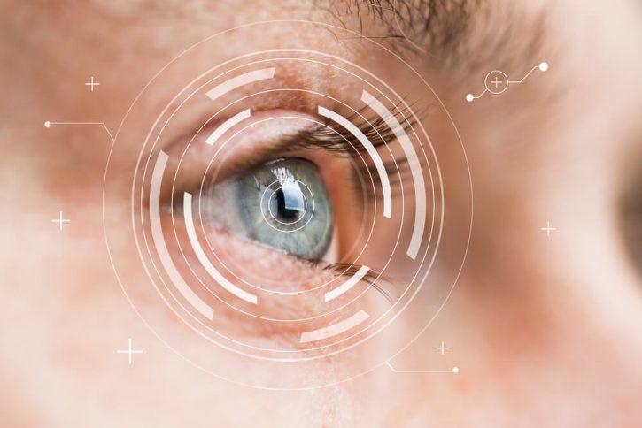 Closeup of cornea